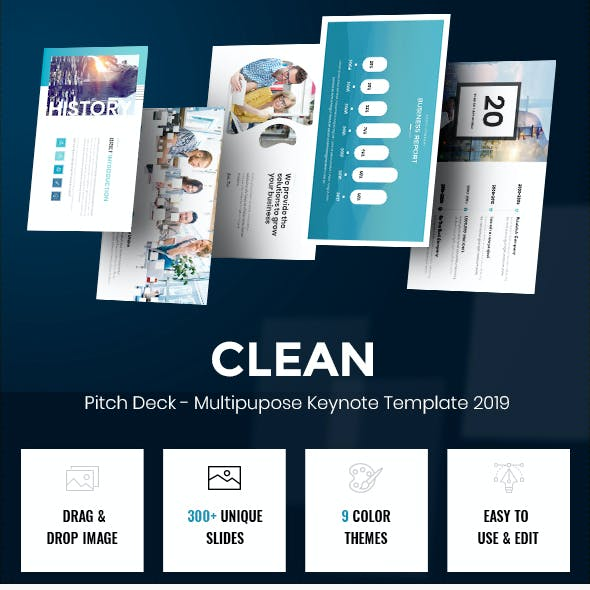 Clean - Pitch Deck Multipurpose Keynote Template