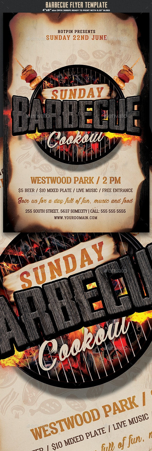 Barbecue Flyer Template - Events Flyers