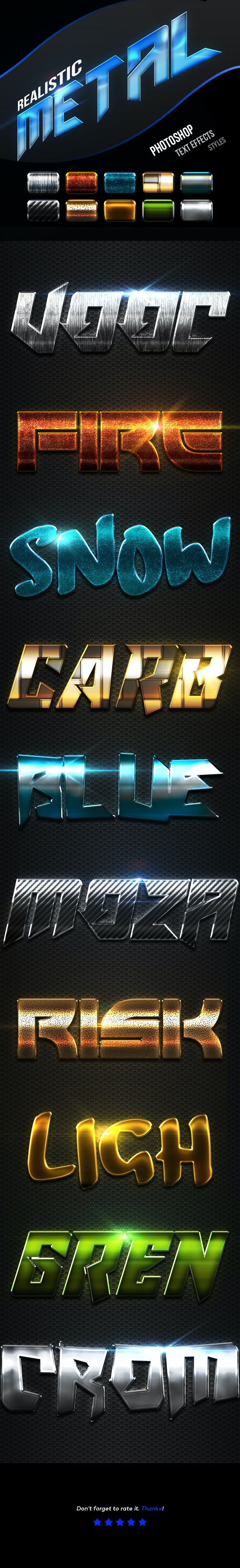 Realistic Metal Text Effects Vol.5 - Text Effects Actions