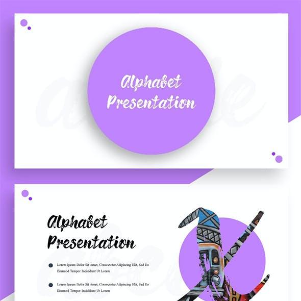 Alphabet Presentation - Creative Brush Alphabet PowerPoint Template
