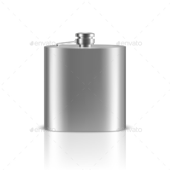 Vector Realistic Silver Blank Stainless Steel - Man-made Objects Objects
