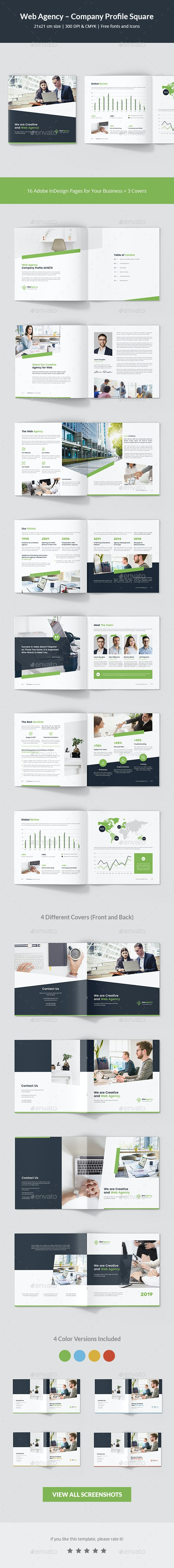 Web Agency – Company Profile Square - Corporate Brochures