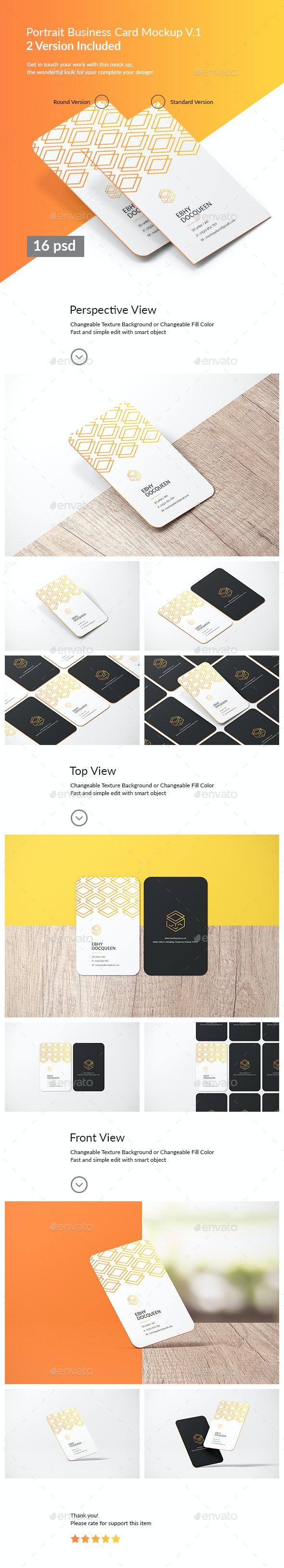 Portrait Business Card Mockup - Business Cards Print