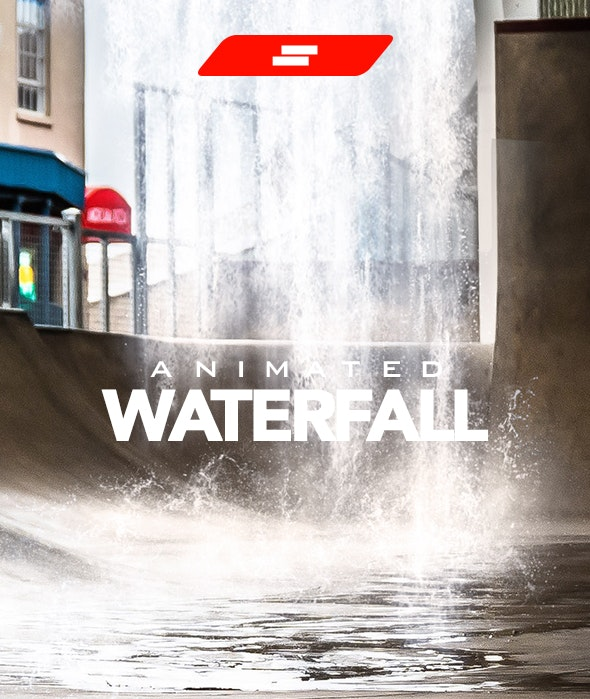 Gif Animated Waterfall Photoshop Action - Photo Effects Actions