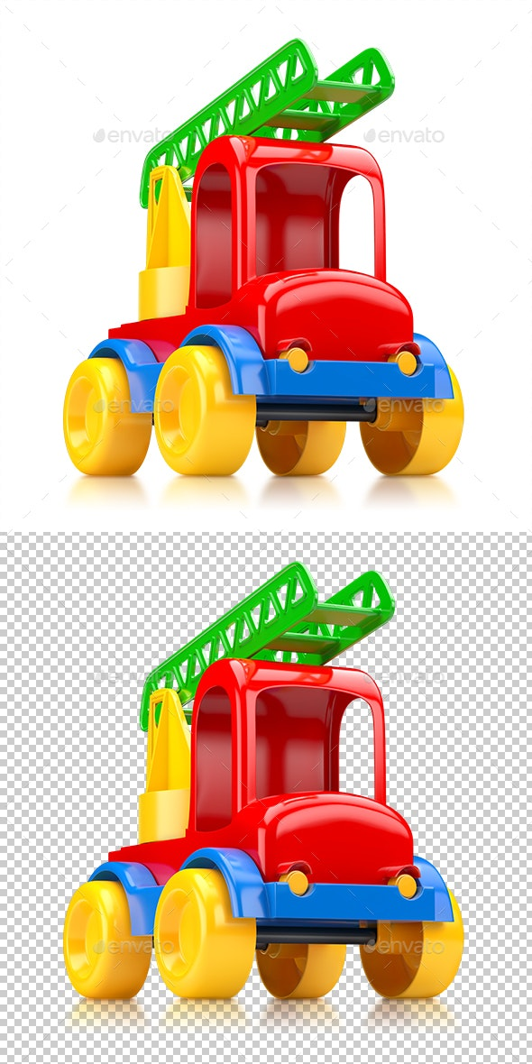 Car Toy Truck With Stairs - Objects 3D Renders