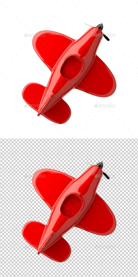 Red Airplane - Objects 3D Renders