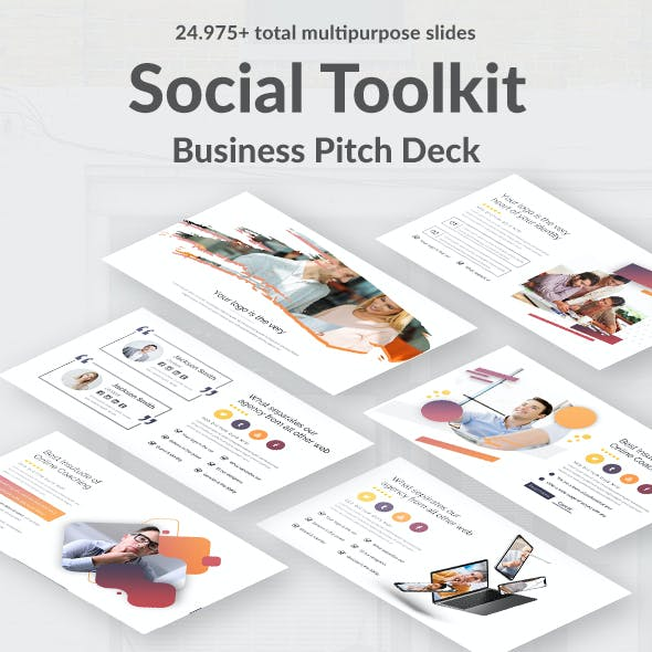 Social Toolkit Pitch Deck Google Slide Template