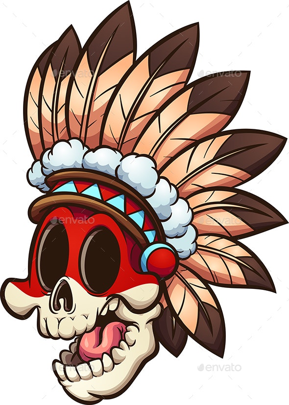 Native American Skull - Miscellaneous Characters