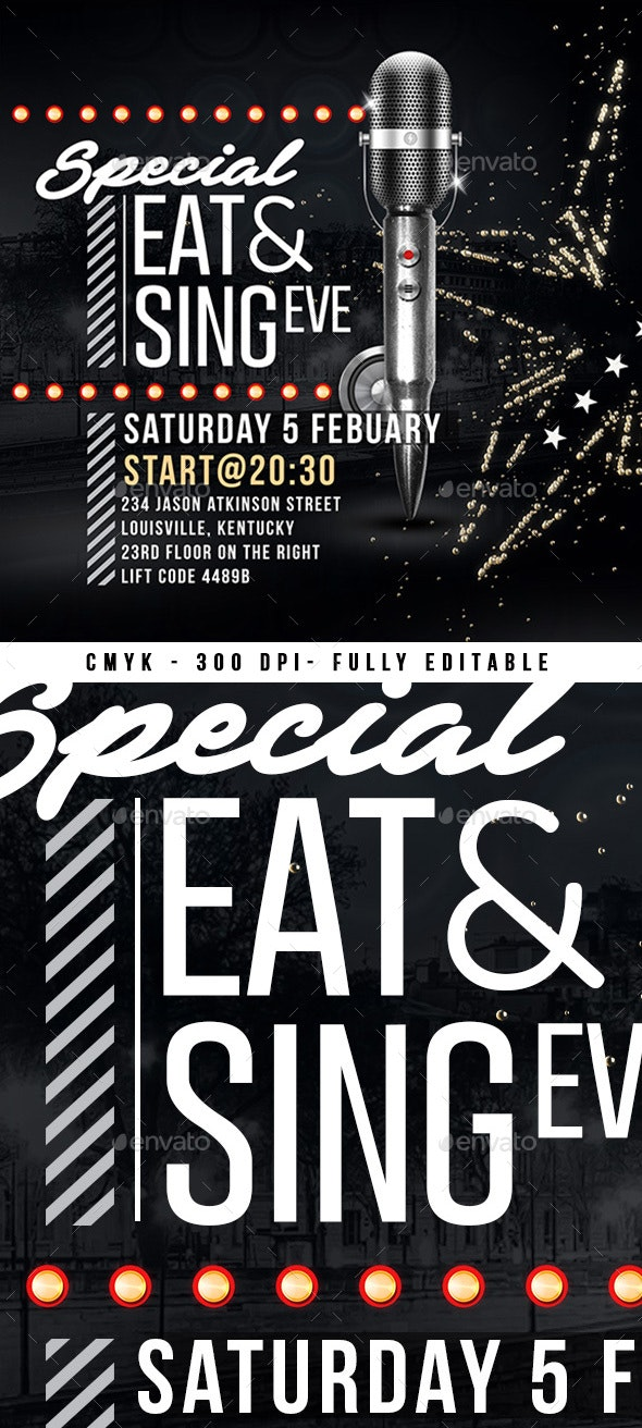 Flyer Eat And Sing - Miscellaneous Events