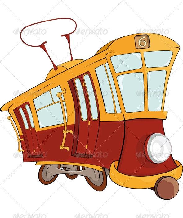 Fantastic Tram Cartoon