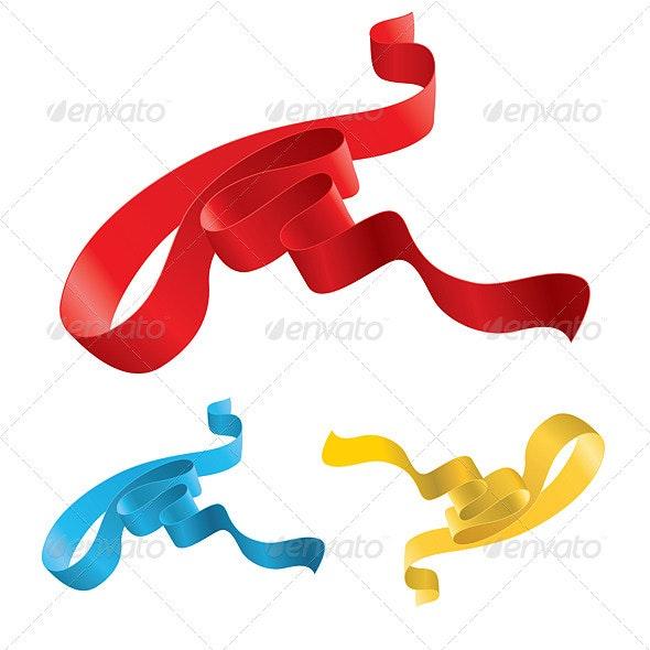 Set of Ribbons  - Flourishes / Swirls Decorative