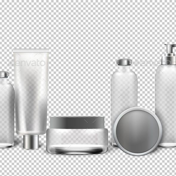 Vector Realistic Cosmetics Transparent Background