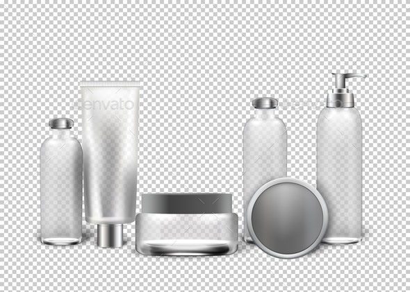 Vector Realistic Cosmetics Transparent Background - Man-made Objects Objects
