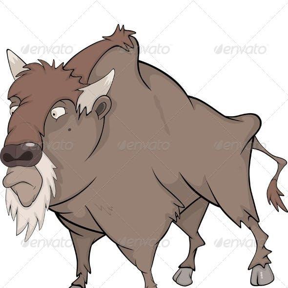 Bison Buffalo Cartoon