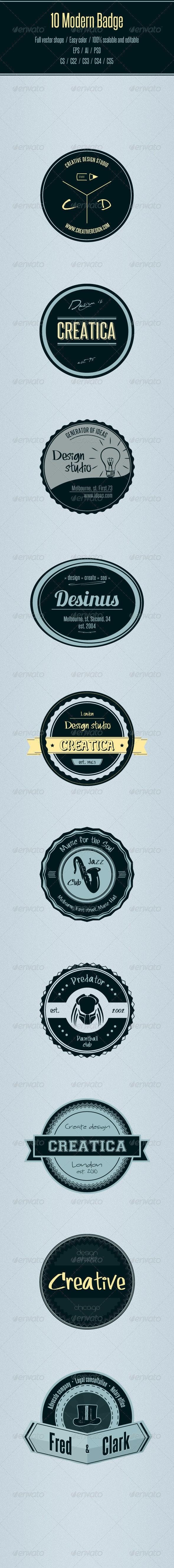 10 Modern Badge