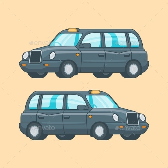 Colorful Taxi Concept - Man-made Objects Objects