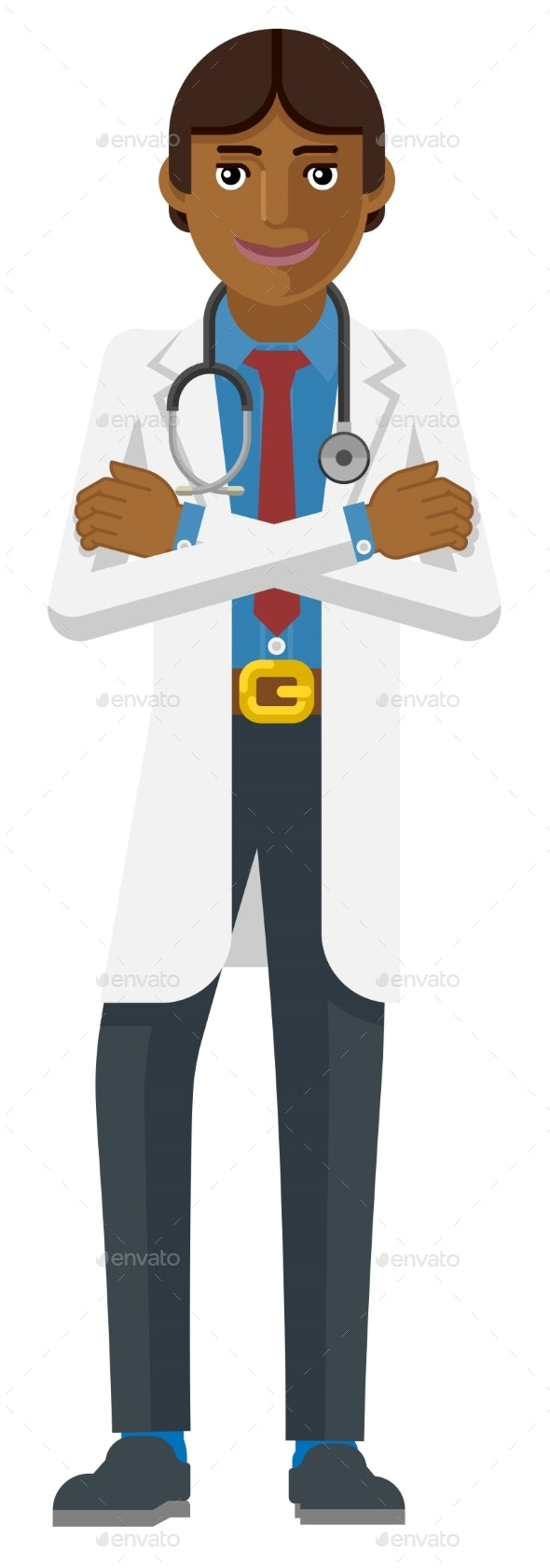 Medical Doctor Cartoon Character - People Characters