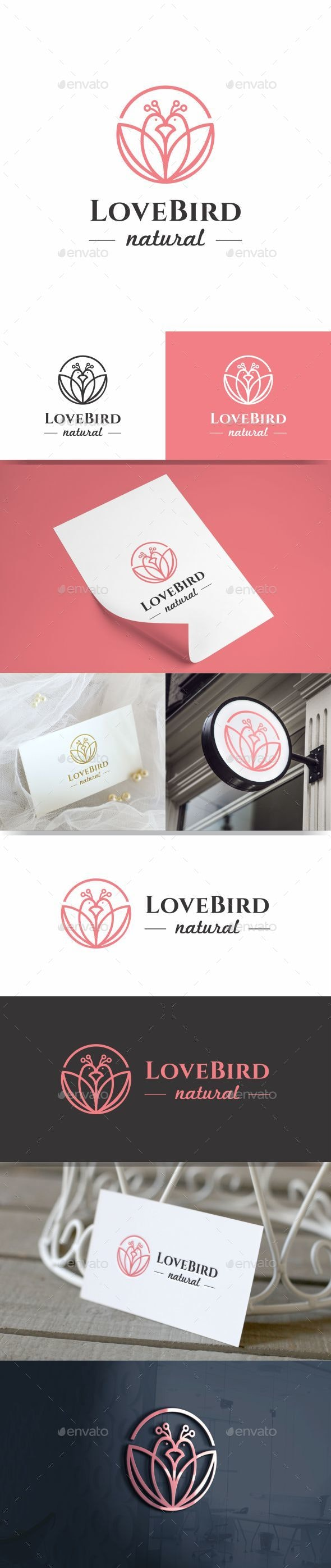 Love Bird Logo Icon - Animals Logo Templates