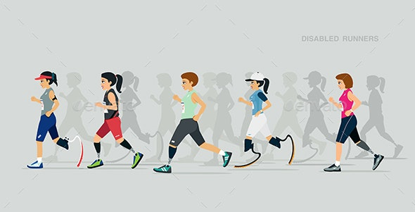 Disabled Runners - Sports/Activity Conceptual