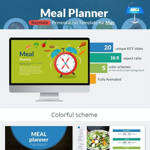 Meal Planner Keynote Presentation Template