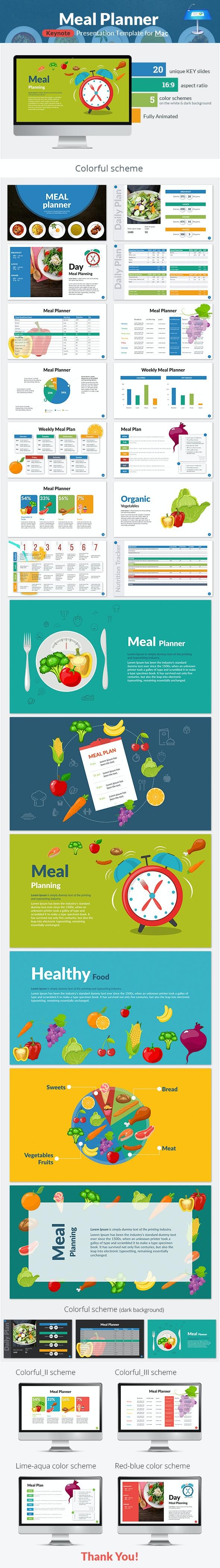 Meal Planner Keynote Presentation Template - Keynote Templates Presentation Templates