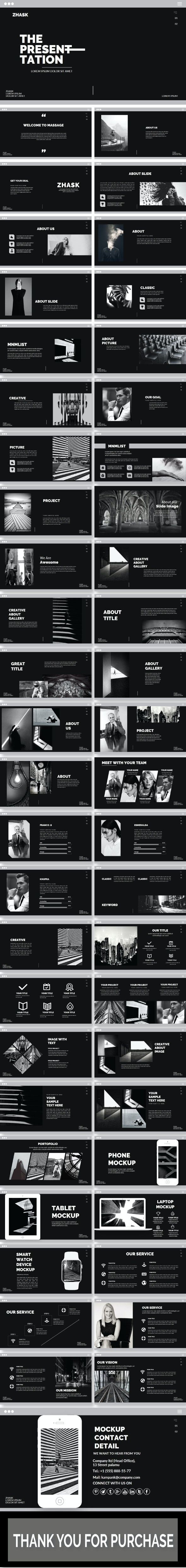 Zhask Presentation Template - Creative PowerPoint Templates