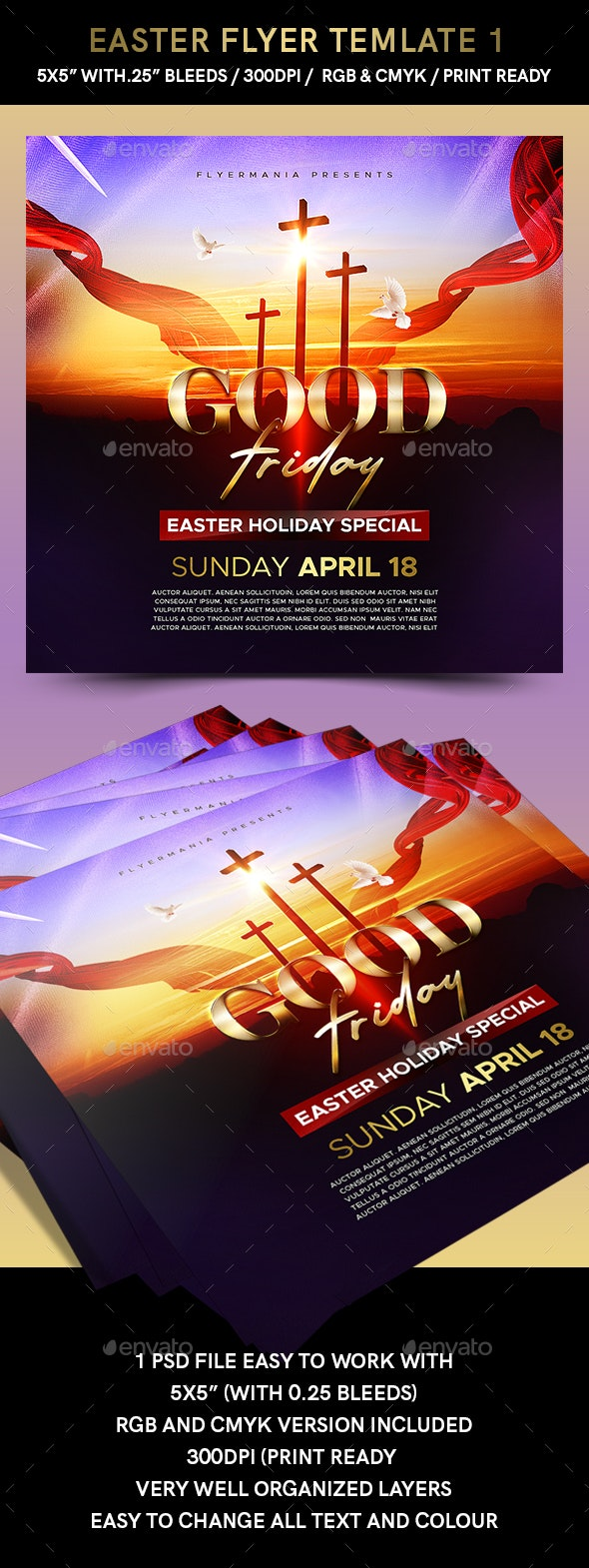 Easter Flyer Template 1 - Flyers Print Templates