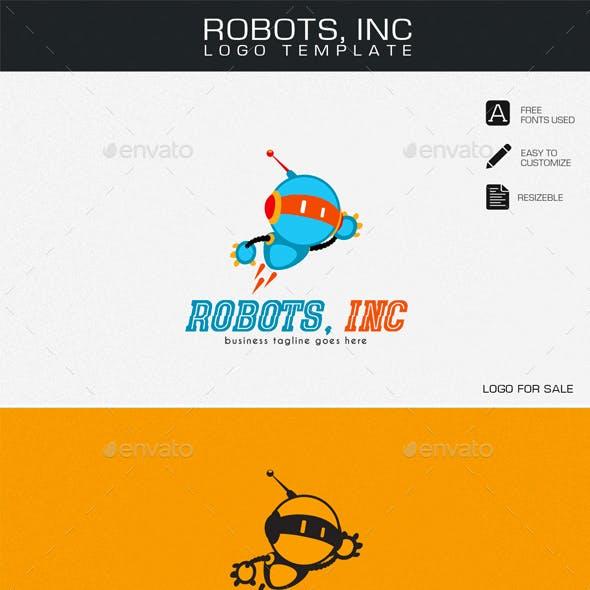 Robots, Inc Logo Template