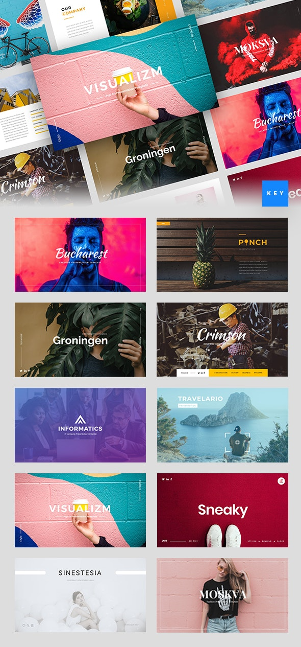 Stringlabs Keynote Bundle Vol. 1 - Creative Keynote Templates