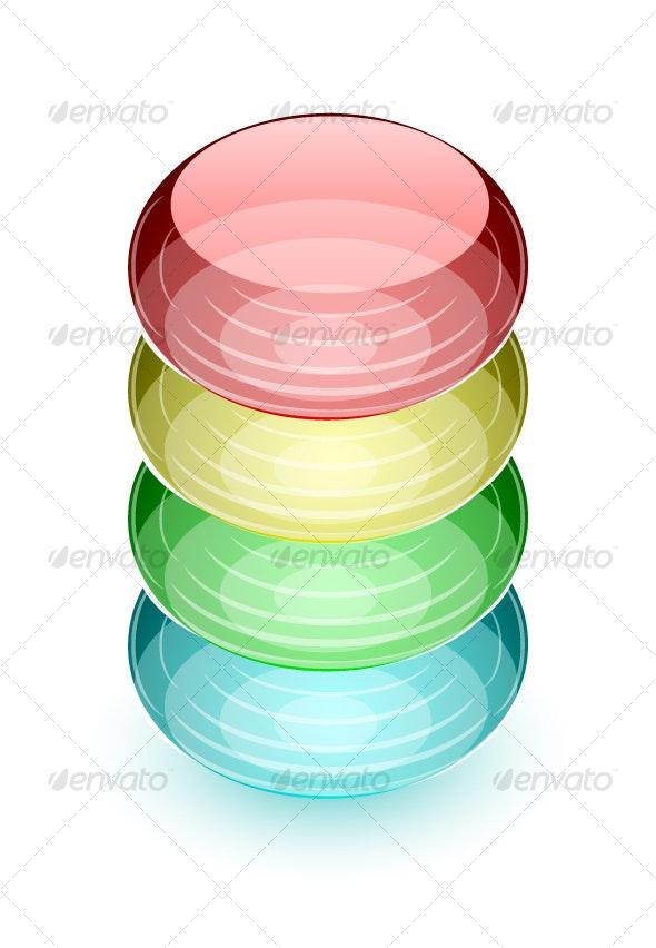 Abstract colourful shape - Decorative Symbols Decorative
