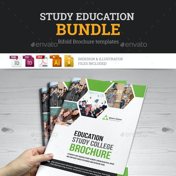 Education Brochure Template Bundle