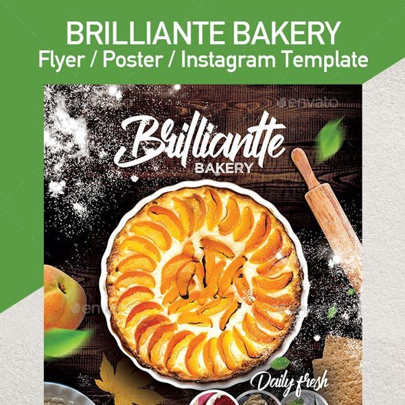 Bakery Pastry Flyer Template - Set of 3 Templates