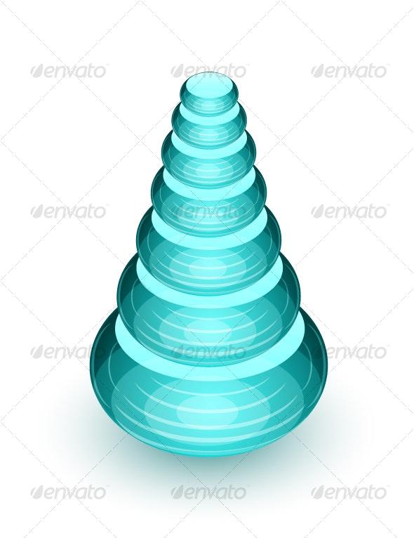 Abstract glass shape - Decorative Symbols Decorative