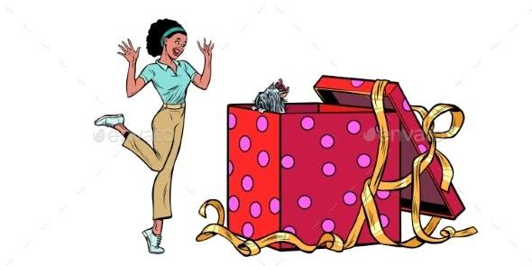 Dog Holiday Gift Box