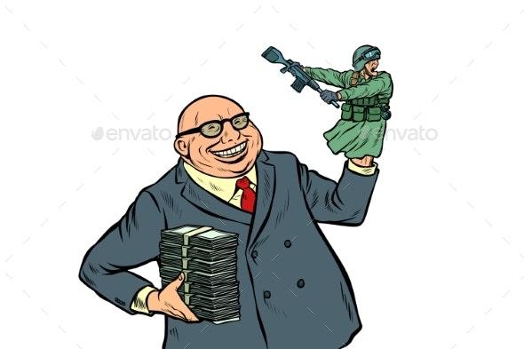 War Propaganda Soldier Attacks Politician - Industries Business