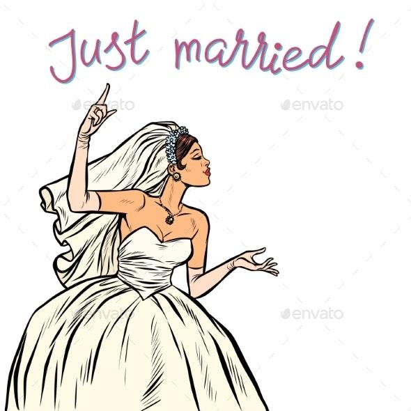 Bride Just Married - Weddings Seasons/Holidays