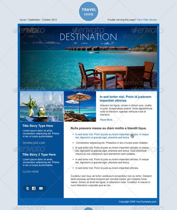 Simple an Elegant Travel Theme - E-newsletters Web Elements