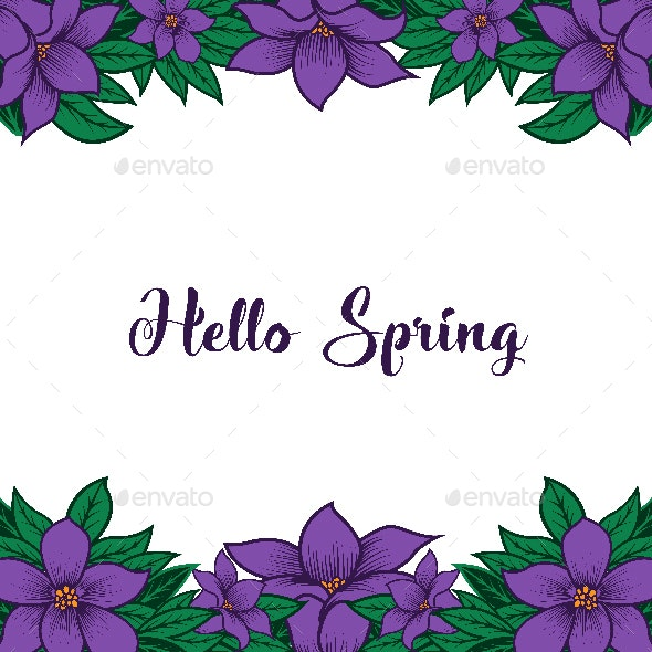 Hello Spring Background - Borders Decorative