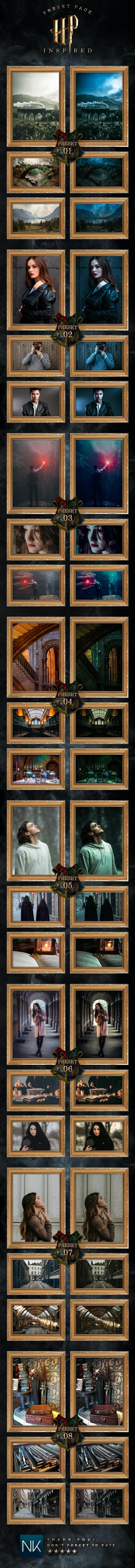 8 Fantasy Lightroom Presets - HP Inspired Pack (+Mobile Version) - Lightroom Presets Add-ons