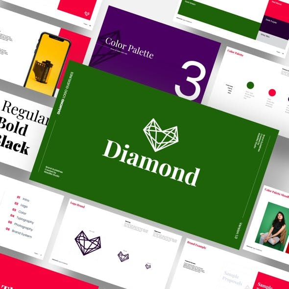 Diamond - Brand Guidelines Powerpoint Template