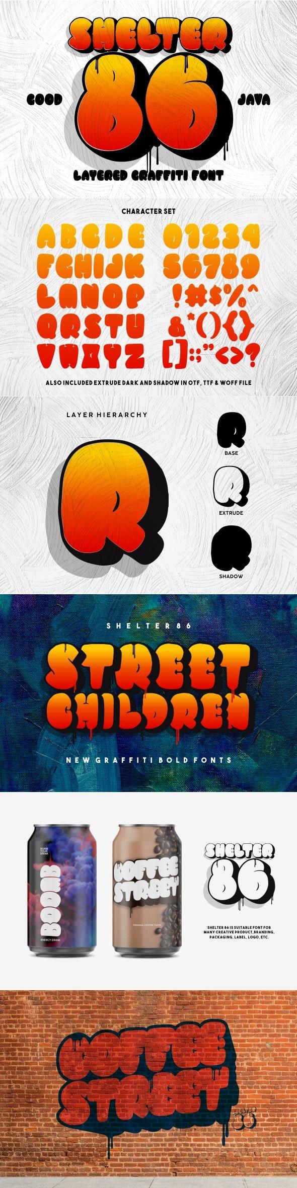 Shelter 86 - Graffiti Fonts