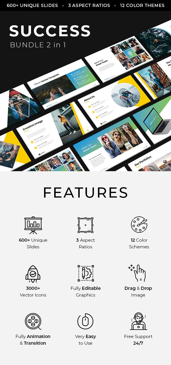 Success Google Slides Bundle 2019 - Google Slides Presentation Templates