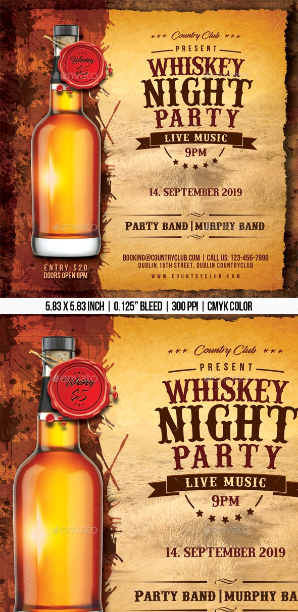 Whiskey Night Party - Clubs & Parties Events