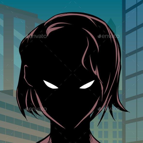Superheroine Portrait in City