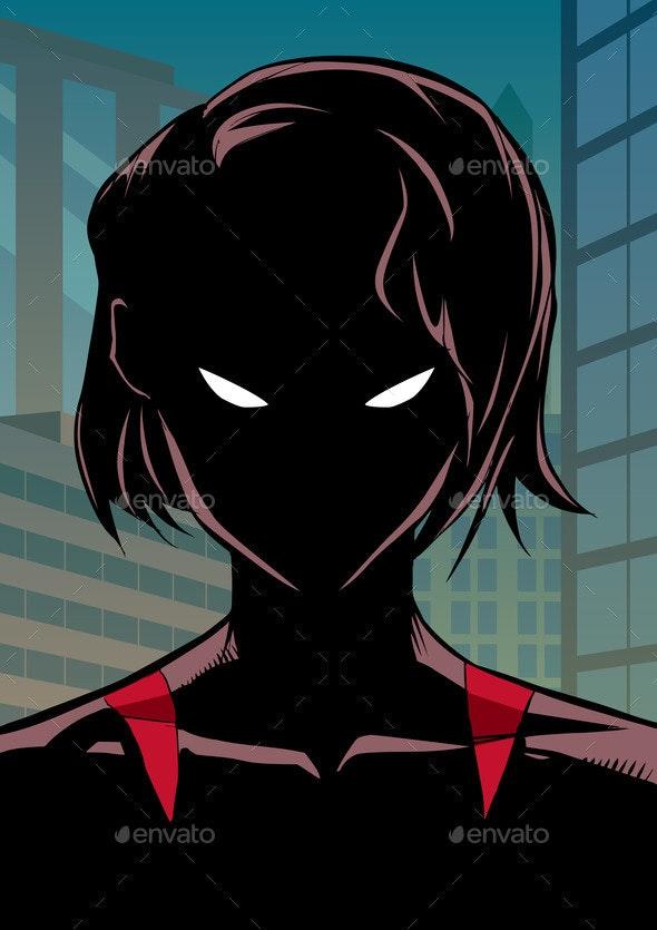 Superheroine Portrait in City - People Characters