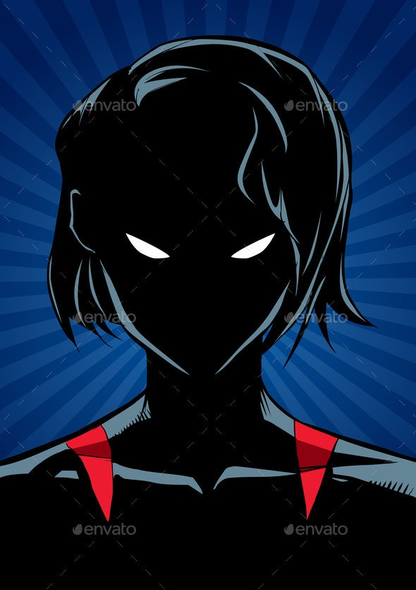 Superheroine Portrait Ray Light Silhouette - People Characters