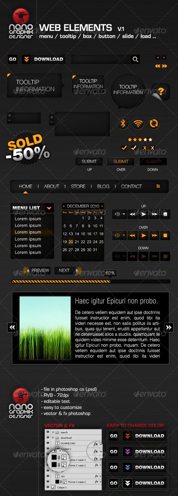 web elements v.1 - Web Elements