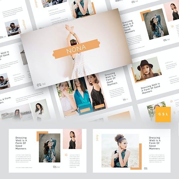 Nona - Fashion Google Slides Template