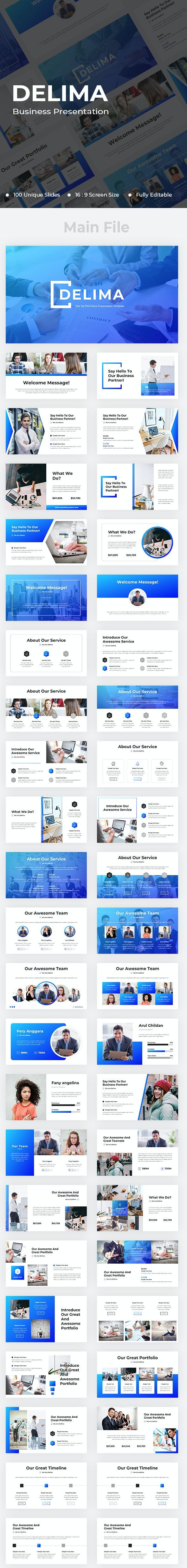 Delima Business Google Slides - Google Slides Presentation Templates