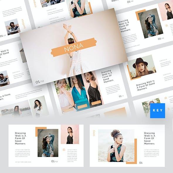 Nona - Fashion Keynote Template